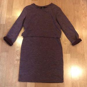 Keyhole-back Sweater Dress
